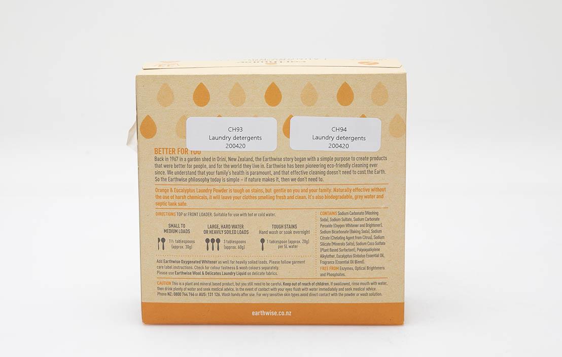 Earthwise Plant Powered Laundry Powder Orange and Eucalyptus