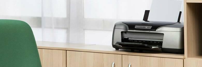 Printer on cabinet