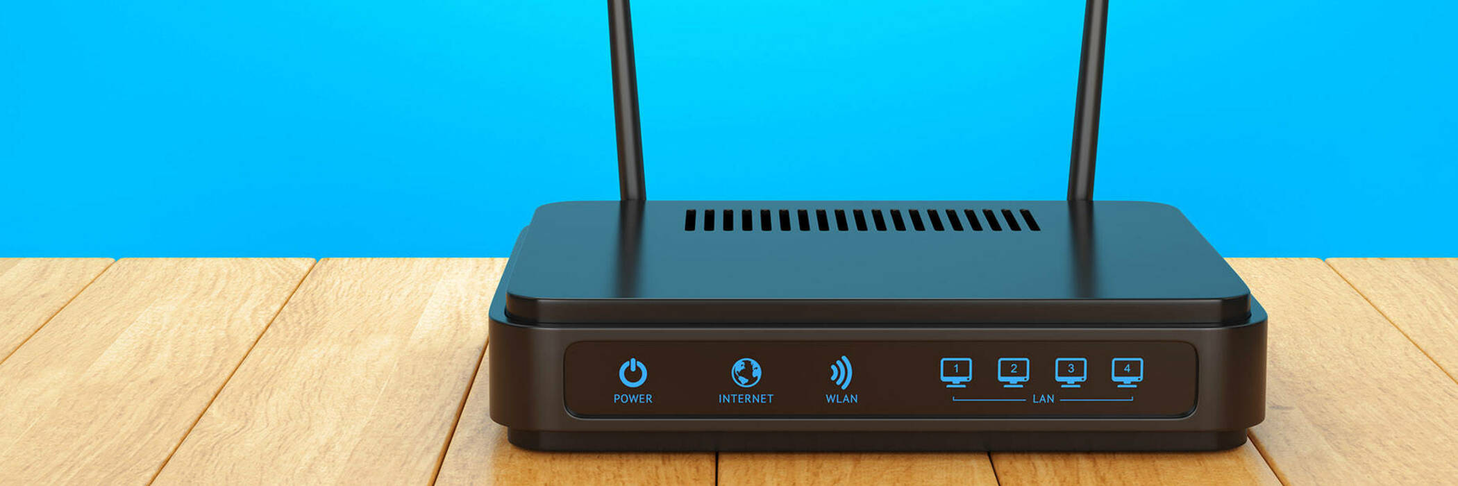 Wireless router photograph.